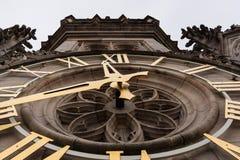 Orologio magnifico del campanile di arazzo fotografia stock