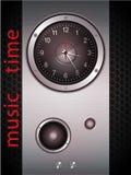 Orologio marcatempo di musica Fotografia Stock