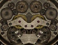 Orologio meccanico del movimento a orologeria della miscela vecchio Fotografie Stock
