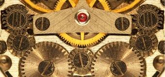 Orologio meccanico della miscela del movimento a orologeria vecchio Fotografia Stock