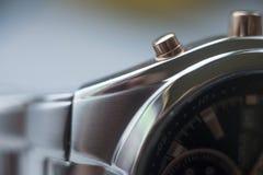 Orologio metallico Immagini Stock