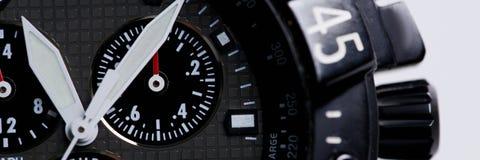 Orologio moderno alla moda di affari del polso fotografie stock