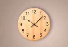 Orologio moderno con le ore ed i minuti Fotografie Stock