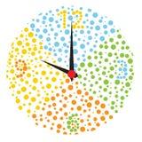 Orologio multicolore puerile. Fotografie Stock Libere da Diritti