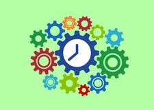 Orologio nel concetto astratto degli ingranaggi variopinto Fotografia Stock Libera da Diritti