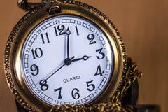 Orologio nella macro Fotografie Stock Libere da Diritti