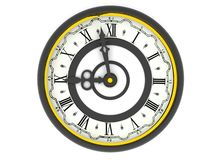 Orologio. Nove in punto Fotografia Stock