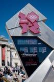Orologio olimpico di conto alla rovescia di Londra 2012 Fotografia Stock