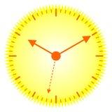 Orologio pieno di sole Fotografia Stock Libera da Diritti