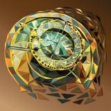 Orologio poligonale basso di vettore royalty illustrazione gratis