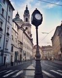 Orologio a Praga Immagini Stock
