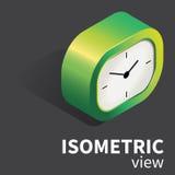 Orologio realistico analogico dello scrittorio di vettore isometrico Fotografia Stock Libera da Diritti