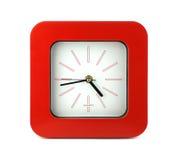 Orologio rosso Immagini Stock