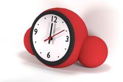 Orologio rosso di forma sferica Immagine Stock Libera da Diritti