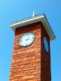 Orologio Sapporo della torre del mattone rosso Fotografia Stock