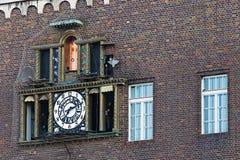 Orologio in Seghedino, Ungheria di musica fotografia stock
