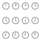 Orologio semplice del fronte pieno Fotografie Stock