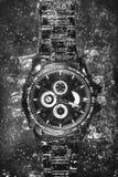 Orologio in soda (in bianco e nero) Fotografia Stock Libera da Diritti