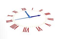 Orologio su bianco Fotografie Stock Libere da Diritti