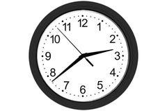 Orologio su una priorit? bassa bianca illustrazione di stock