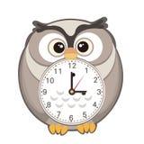 Orologio sveglio del fumetto Fotografia Stock