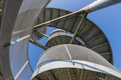 Orologio-torre fatta delle scale a chiocciola vicino all'aeroporto di Lelystad, Paesi Bassi Immagine Stock Libera da Diritti