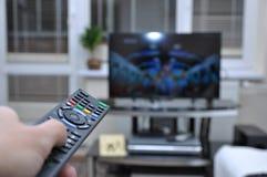 Orologio TV fotografie stock libere da diritti