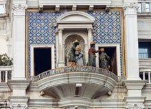 ` Orologio, Venezia, Italia del dell della torre, o di Torre di orologio Fotografia Stock