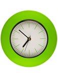 Orologio verde Immagine Stock