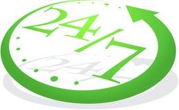 Orologio verde astratto Immagini Stock