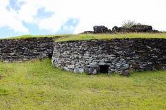 Orongo Stone Houses royalty free stock photos