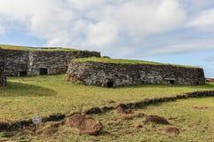 Orongo Village on Easter Island, Chile. Orongo Village on the most remote habited Easter Island, Chile stock photography