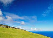 Orongo Village on Easter Island, Chile Stock Photos