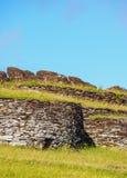 Orongo Village on Easter Island, Chile Royalty Free Stock Photos