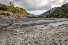Orongorongo rzeka, Wainuiomata, Nowa Zelandia Zdjęcia Stock