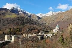 Oropa sanctuary in italian Alps Royalty Free Stock Photos