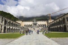 Oropa Sanctuary, known as Sacro monte della beata Vergine Oropa, Royalty Free Stock Photography