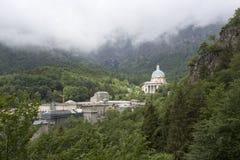 Oropa-Schongebiet - Biella - Italien stockfotografie