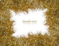 Oropel del oro con el sitio para su texto Imagen de archivo libre de regalías