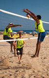 Oropesa City Beach Volleyball Royalty Free Stock Images