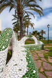 Oropesa del Mar Castellon beach gardens tiles mosaic Stock Photo