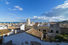 Oropesa del Mar. View of Oropesa del Mar from the Castle (Castellon, Spain Stock Photography