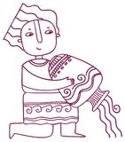 Oroscopo di divertimento - segno dello zodiaco di acquario Immagini Stock Libere da Diritti
