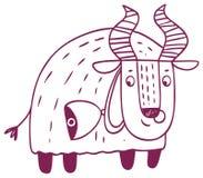 Oroscopo di divertimento - segno dello zodiaco di Toro Immagine Stock
