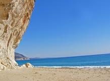 orosei Сардиния Италии luna залива cala пляжа Стоковое Изображение RF