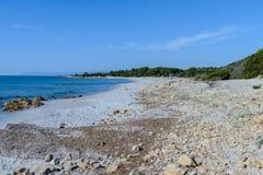 Orosei gulf in sardinia italy Stock Images