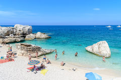 Oroseigolf in Sardinige, Italië Royalty-vrije Stock Foto's