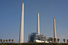 Orot Rabin Power Station. Orot Rabin is an Israel Electric Corporation coal-powered power plant situated on the Mediterranean coast in Hadera, Israel Stock Photo