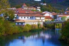 Oroz Betelu in Navarra Pyrenees of Spain. Oroz Betelu village in Navarra Pyrenees of Spain Royalty Free Stock Image