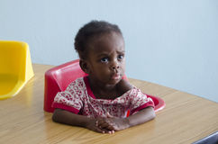 An orphan girl in Haiti school Royalty Free Stock Images